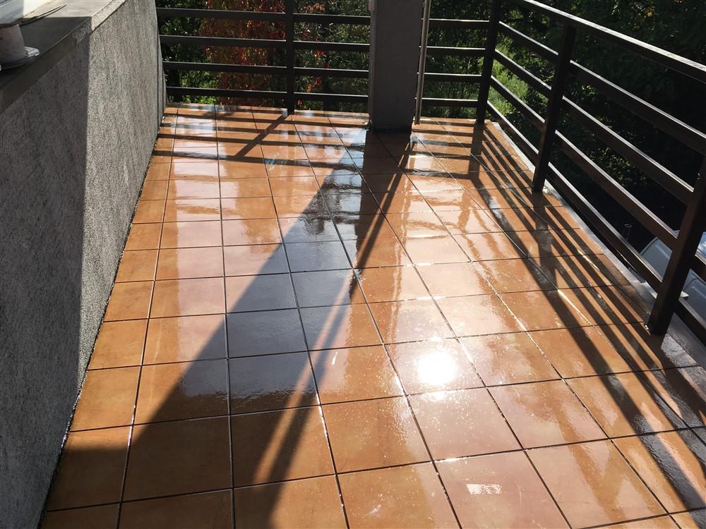 Balkon po aplikacji membrany poliuretanowej DuroTRANS